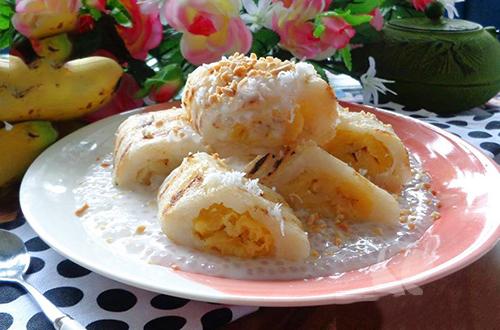 Bánh chuối nếp dừa