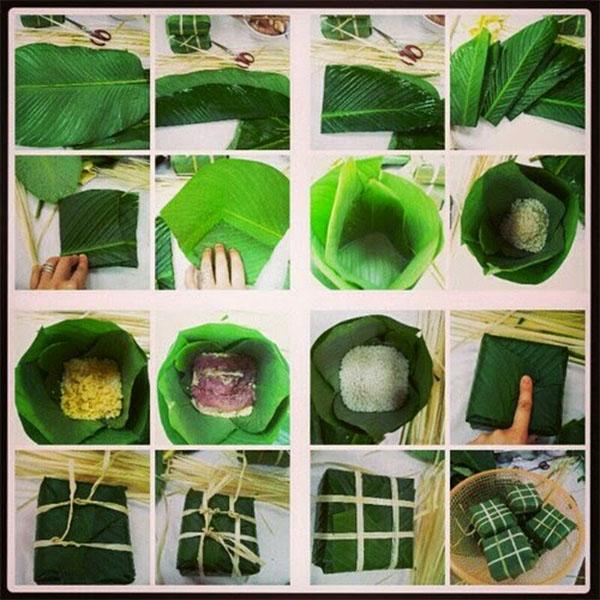 cách gói bánh chưng xanh truyền thống  2