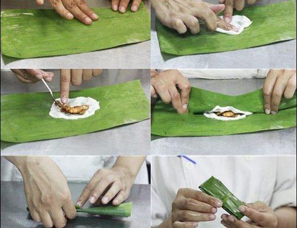 Từng bước cho bánh vào trong vỏ