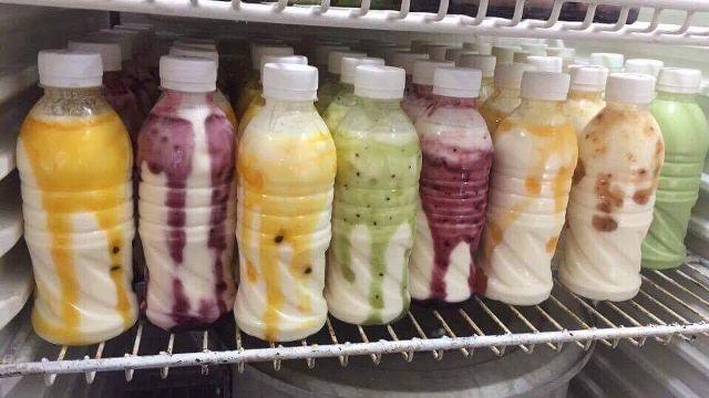 Kết quả sau khi làm sữa chua trái cây uống
