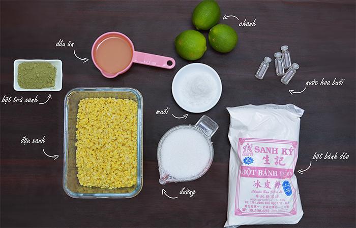 Nguyên liệu tự làm bánh dẻo trung thu tại nhà