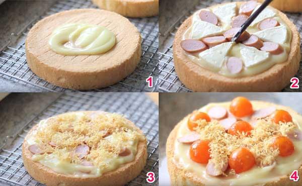 Các bước làm bánh bông lan trứng muối