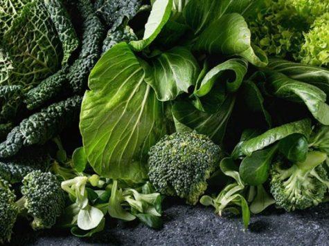 Các loại rau có màu xanh đậm.