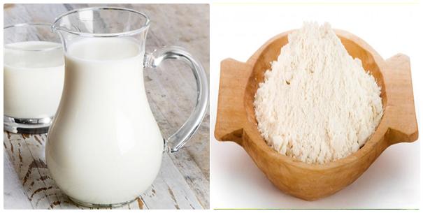 Trị mụn đầu đen bằng bột gạo và sữa chua